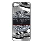 Sometimes Quiet Is Violent Twenty One Pilots The Meaning Of Blurryface Album Apple iPhone 5 Case (Silver) Front