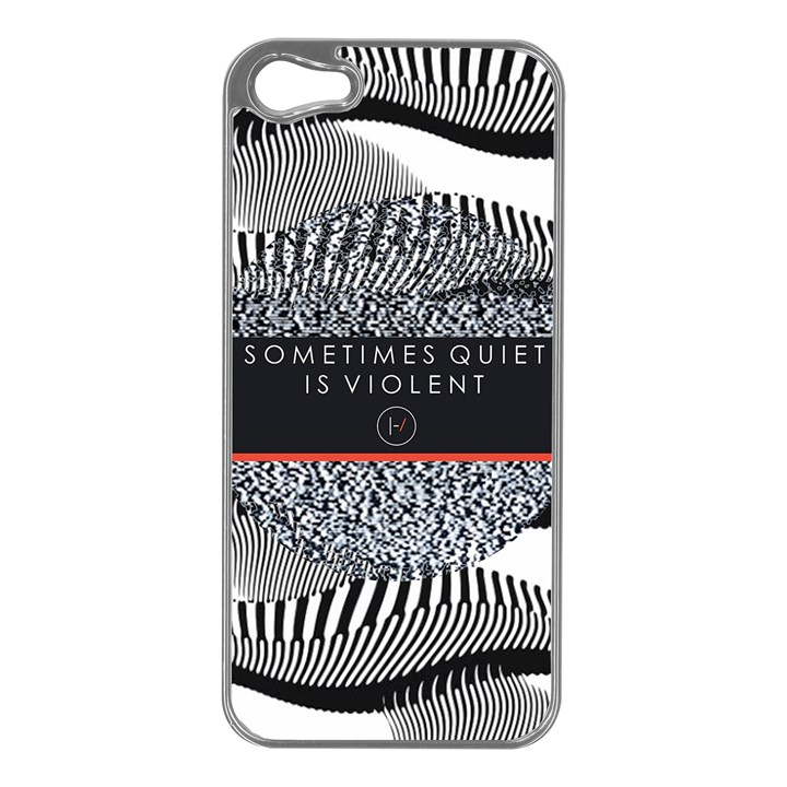Sometimes Quiet Is Violent Twenty One Pilots The Meaning Of Blurryface Album Apple iPhone 5 Case (Silver)