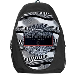 Sometimes Quiet Is Violent Twenty One Pilots The Meaning Of Blurryface Album Backpack Bag