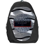 Sometimes Quiet Is Violent Twenty One Pilots The Meaning Of Blurryface Album Backpack Bag Front