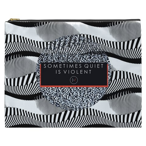 Sometimes Quiet Is Violent Twenty One Pilots The Meaning Of Blurryface Album Cosmetic Bag (XXXL)