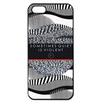 Sometimes Quiet Is Violent Twenty One Pilots The Meaning Of Blurryface Album Apple iPhone 5 Seamless Case (Black) Front