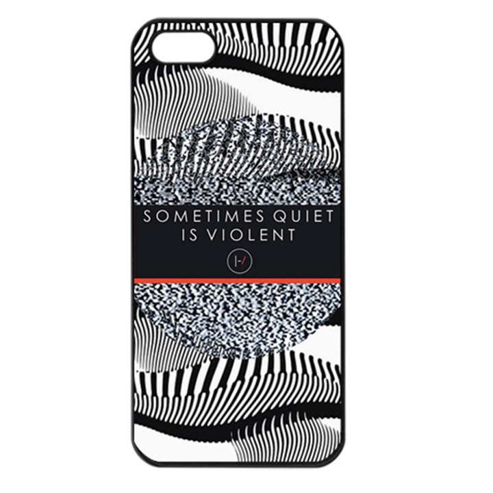 Sometimes Quiet Is Violent Twenty One Pilots The Meaning Of Blurryface Album Apple iPhone 5 Seamless Case (Black)