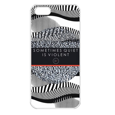 Sometimes Quiet Is Violent Twenty One Pilots The Meaning Of Blurryface Album Apple iPhone 5 Seamless Case (White)