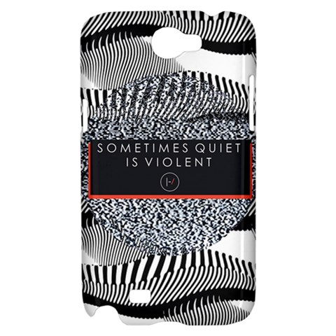 Sometimes Quiet Is Violent Twenty One Pilots The Meaning Of Blurryface Album Samsung Galaxy Note 2 Hardshell Case