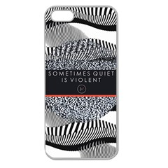 Sometimes Quiet Is Violent Twenty One Pilots The Meaning Of Blurryface Album Apple Seamless Iphone 5 Case (clear)