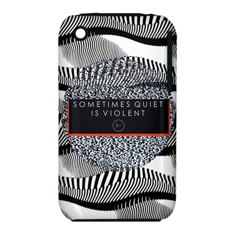 Sometimes Quiet Is Violent Twenty One Pilots The Meaning Of Blurryface Album Apple iPhone 3G/3GS Hardshell Case (PC+Silicone)