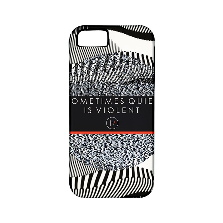 Sometimes Quiet Is Violent Twenty One Pilots The Meaning Of Blurryface Album Apple iPhone 5 Classic Hardshell Case (PC+Silicone)
