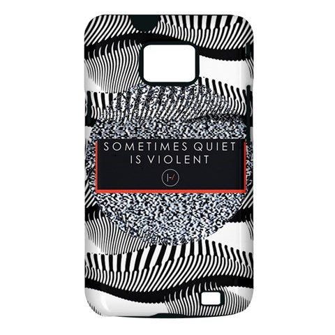 Sometimes Quiet Is Violent Twenty One Pilots The Meaning Of Blurryface Album Samsung Galaxy S II i9100 Hardshell Case (PC+Silicone)
