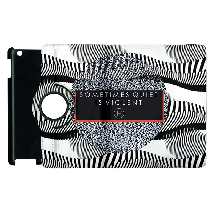 Sometimes Quiet Is Violent Twenty One Pilots The Meaning Of Blurryface Album Apple iPad 2 Flip 360 Case
