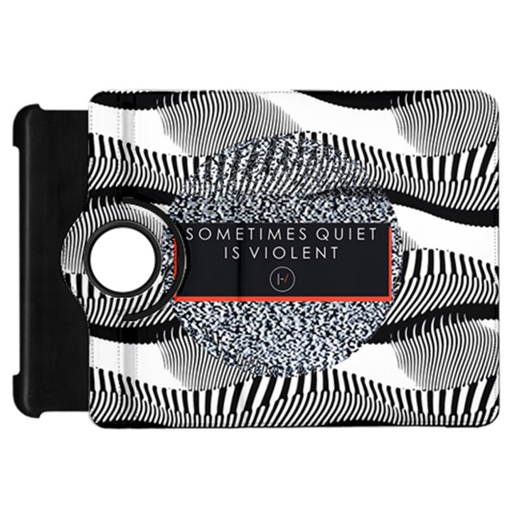 Sometimes Quiet Is Violent Twenty One Pilots The Meaning Of Blurryface Album Kindle Fire HD Flip 360 Case