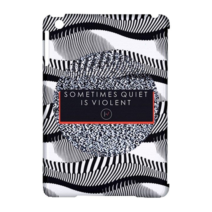 Sometimes Quiet Is Violent Twenty One Pilots The Meaning Of Blurryface Album Apple iPad Mini Hardshell Case (Compatible with Smart Cover)