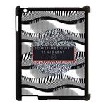 Sometimes Quiet Is Violent Twenty One Pilots The Meaning Of Blurryface Album Apple iPad 3/4 Case (Black) Front