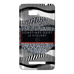 Sometimes Quiet Is Violent Twenty One Pilots The Meaning Of Blurryface Album HTC One SU T528W Hardshell Case