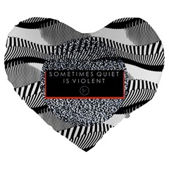 Sometimes Quiet Is Violent Twenty One Pilots The Meaning Of Blurryface Album Large 19  Premium Heart Shape Cushions