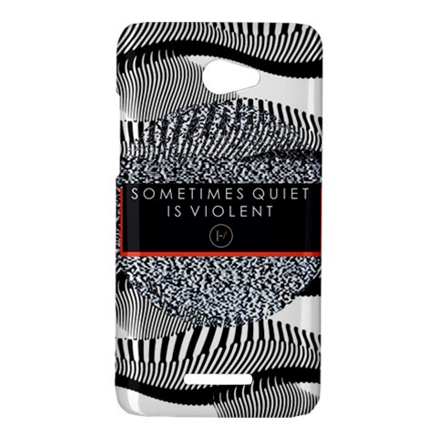 Sometimes Quiet Is Violent Twenty One Pilots The Meaning Of Blurryface Album HTC Butterfly X920E Hardshell Case