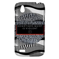 Sometimes Quiet Is Violent Twenty One Pilots The Meaning Of Blurryface Album HTC Desire V (T328W) Hardshell Case