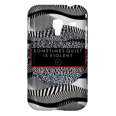 Sometimes Quiet Is Violent Twenty One Pilots The Meaning Of Blurryface Album Samsung Galaxy Ace Plus S7500 Hardshell Case