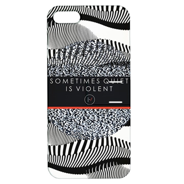 Sometimes Quiet Is Violent Twenty One Pilots The Meaning Of Blurryface Album Apple iPhone 5 Hardshell Case with Stand