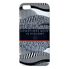 Sometimes Quiet Is Violent Twenty One Pilots The Meaning Of Blurryface Album Apple iPhone 5 Premium Hardshell Case