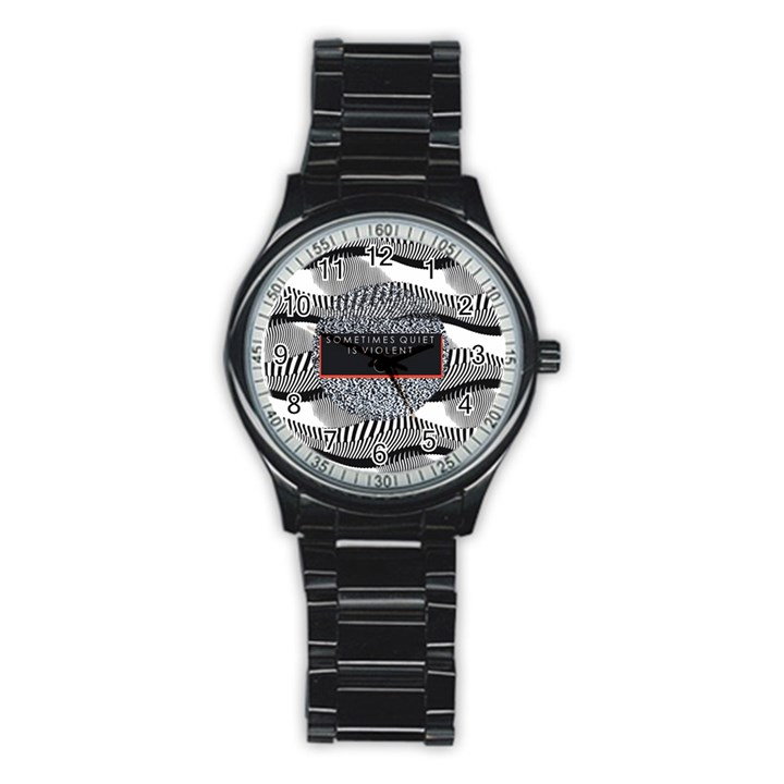 Sometimes Quiet Is Violent Twenty One Pilots The Meaning Of Blurryface Album Stainless Steel Round Watch