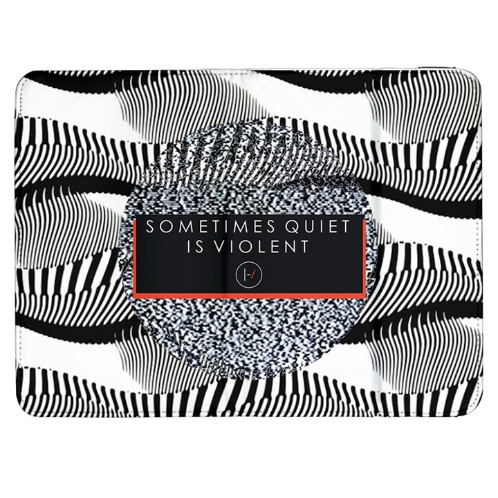 Sometimes Quiet Is Violent Twenty One Pilots The Meaning Of Blurryface Album Samsung Galaxy Tab 7  P1000 Flip Case