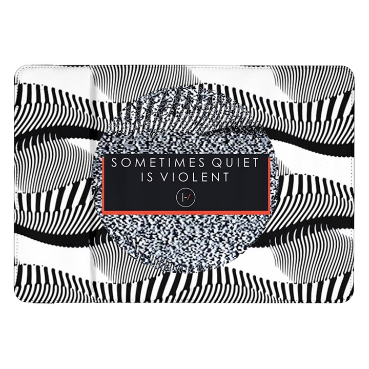 Sometimes Quiet Is Violent Twenty One Pilots The Meaning Of Blurryface Album Samsung Galaxy Tab 8.9  P7300 Flip Case
