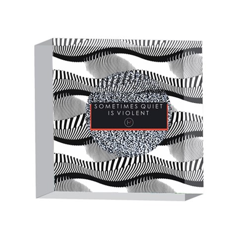 Sometimes Quiet Is Violent Twenty One Pilots The Meaning Of Blurryface Album 4 x 4  Acrylic Photo Blocks