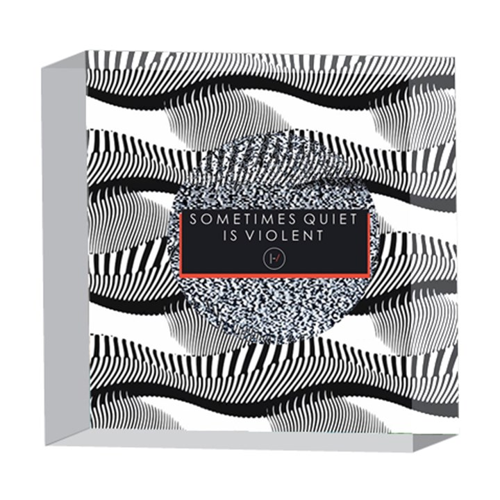 Sometimes Quiet Is Violent Twenty One Pilots The Meaning Of Blurryface Album 5  x 5  Acrylic Photo Blocks
