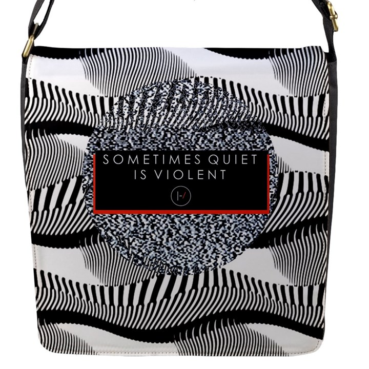 Sometimes Quiet Is Violent Twenty One Pilots The Meaning Of Blurryface Album Flap Messenger Bag (S)