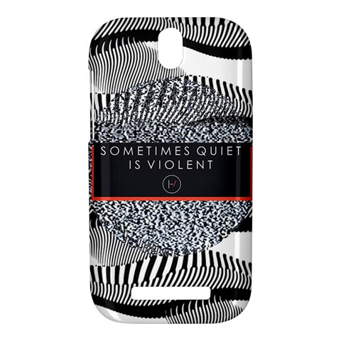 Sometimes Quiet Is Violent Twenty One Pilots The Meaning Of Blurryface Album HTC One SV Hardshell Case