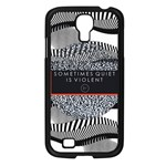 Sometimes Quiet Is Violent Twenty One Pilots The Meaning Of Blurryface Album Samsung Galaxy S4 I9500/ I9505 Case (Black) Front