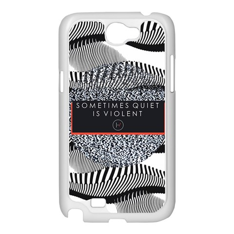 Sometimes Quiet Is Violent Twenty One Pilots The Meaning Of Blurryface Album Samsung Galaxy Note 2 Case (White)
