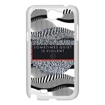 Sometimes Quiet Is Violent Twenty One Pilots The Meaning Of Blurryface Album Samsung Galaxy Note 2 Case (White) Front