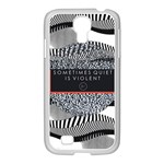 Sometimes Quiet Is Violent Twenty One Pilots The Meaning Of Blurryface Album Samsung GALAXY S4 I9500/ I9505 Case (White) Front