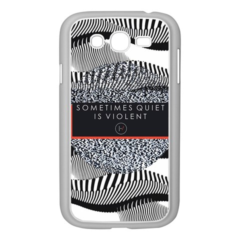 Sometimes Quiet Is Violent Twenty One Pilots The Meaning Of Blurryface Album Samsung Galaxy Grand DUOS I9082 Case (White)