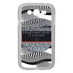 Sometimes Quiet Is Violent Twenty One Pilots The Meaning Of Blurryface Album Samsung Galaxy Grand DUOS I9082 Case (White) Front