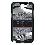 Sometimes Quiet Is Violent Twenty One Pilots The Meaning Of Blurryface Album Samsung Galaxy Note 2 Case (Black) Front