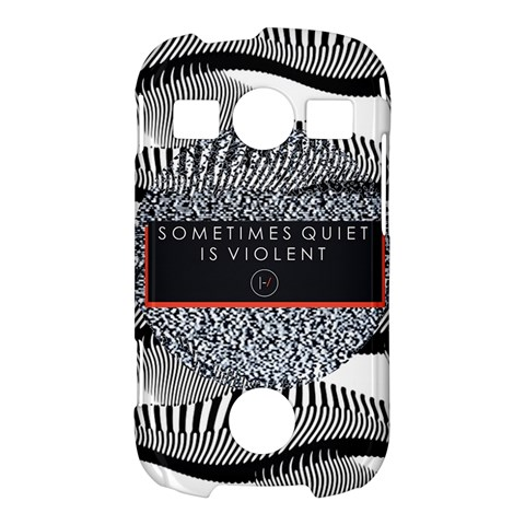 Sometimes Quiet Is Violent Twenty One Pilots The Meaning Of Blurryface Album Samsung Galaxy S7710 Xcover 2 Hardshell Case