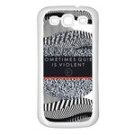 Sometimes Quiet Is Violent Twenty One Pilots The Meaning Of Blurryface Album Samsung Galaxy S3 Back Case (White) Front