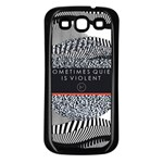 Sometimes Quiet Is Violent Twenty One Pilots The Meaning Of Blurryface Album Samsung Galaxy S3 Back Case (Black) Front