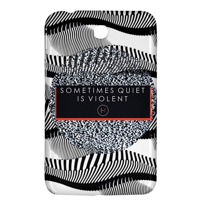 Sometimes Quiet Is Violent Twenty One Pilots The Meaning Of Blurryface Album Samsung Galaxy Tab 3 (7 ) P3200 Hardshell Case