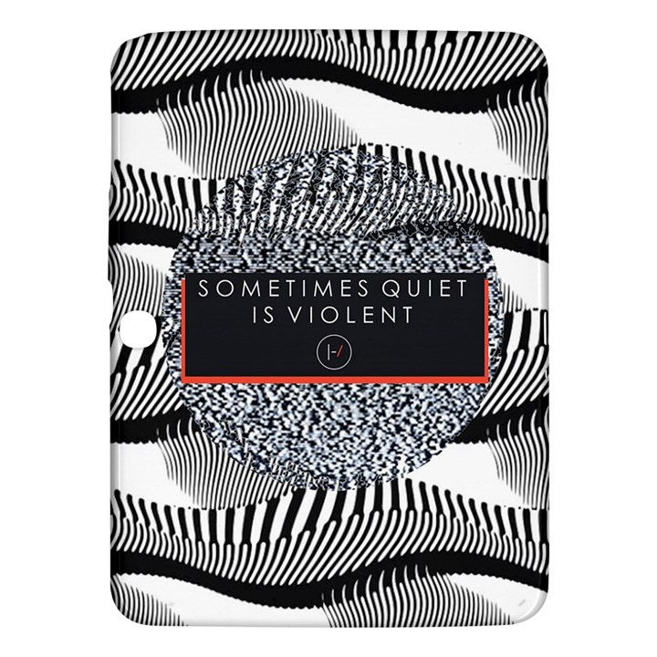 Sometimes Quiet Is Violent Twenty One Pilots The Meaning Of Blurryface Album Samsung Galaxy Tab 3 (10.1 ) P5200 Hardshell Case