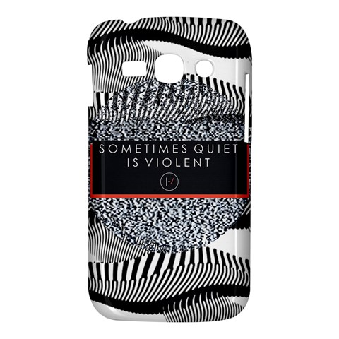 Sometimes Quiet Is Violent Twenty One Pilots The Meaning Of Blurryface Album Samsung Galaxy Ace 3 S7272 Hardshell Case