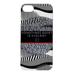 Sometimes Quiet Is Violent Twenty One Pilots The Meaning Of Blurryface Album Apple iPhone 5S/ SE Hardshell Case