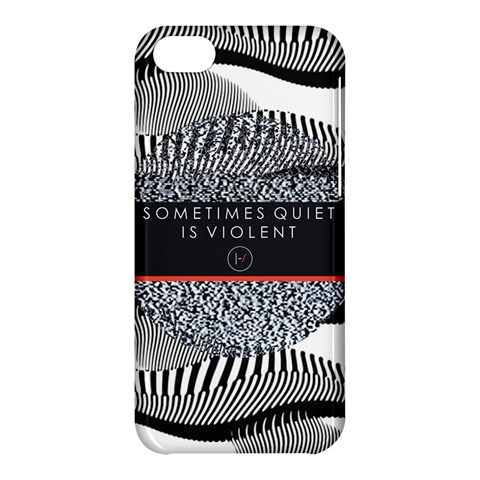 Sometimes Quiet Is Violent Twenty One Pilots The Meaning Of Blurryface Album Apple iPhone 5C Hardshell Case