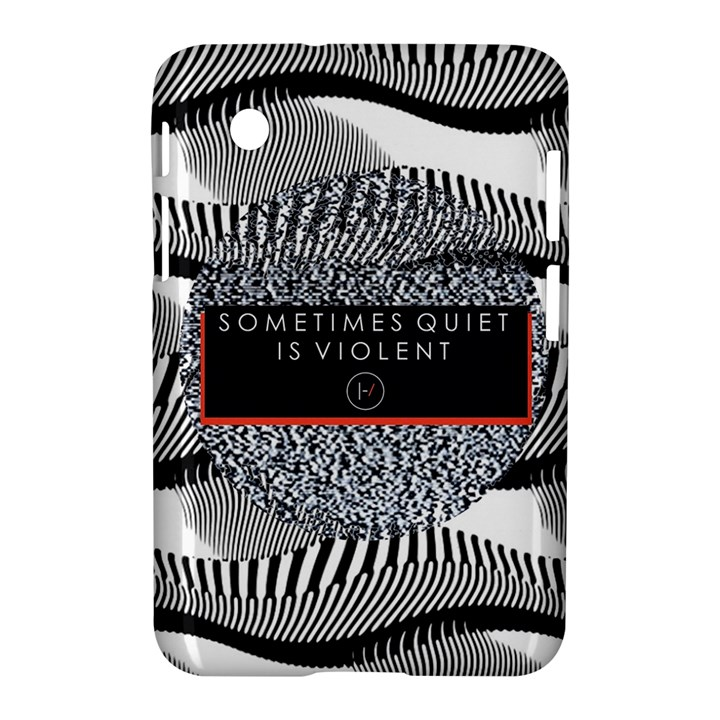 Sometimes Quiet Is Violent Twenty One Pilots The Meaning Of Blurryface Album Samsung Galaxy Tab 2 (7 ) P3100 Hardshell Case