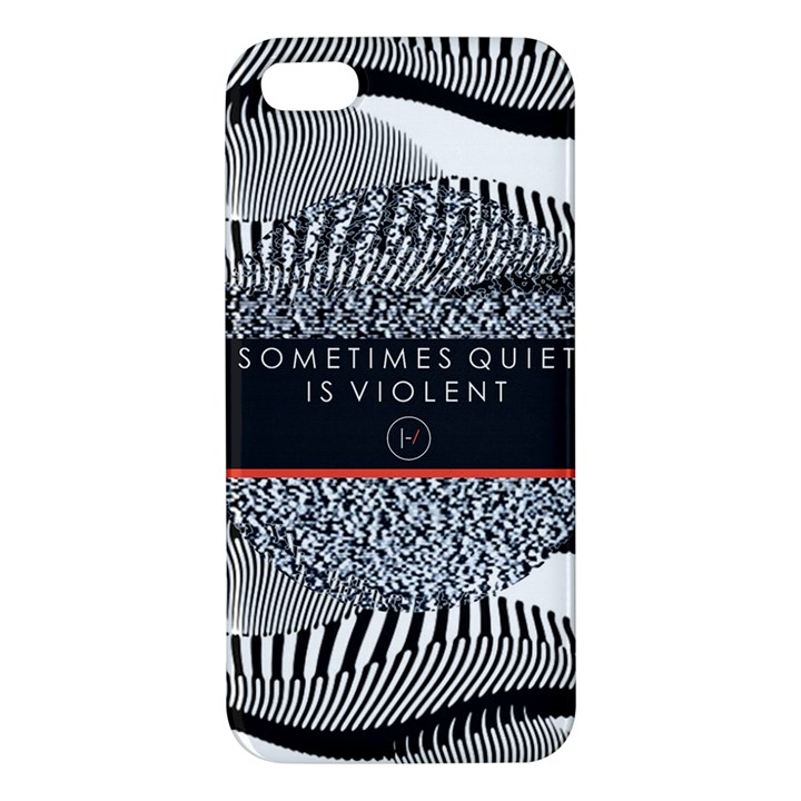 Sometimes Quiet Is Violent Twenty One Pilots The Meaning Of Blurryface Album iPhone 5S/ SE Premium Hardshell Case