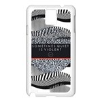 Sometimes Quiet Is Violent Twenty One Pilots The Meaning Of Blurryface Album Samsung Galaxy Note 3 N9005 Case (White) Front