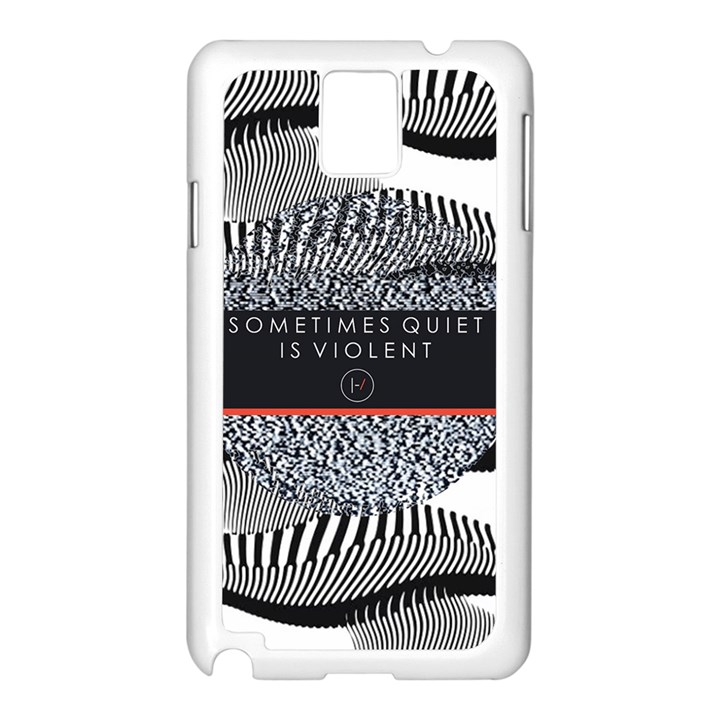 Sometimes Quiet Is Violent Twenty One Pilots The Meaning Of Blurryface Album Samsung Galaxy Note 3 N9005 Case (White)